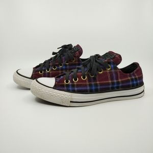Converse All Star Plaid Flannel Ox Sneakers